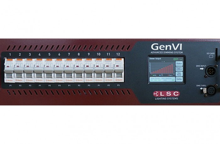LSC Dimmer GENVI, 12x13A Schuko